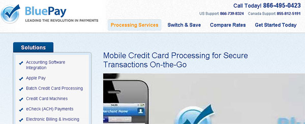 BluePay Mobile Credit Card Processing