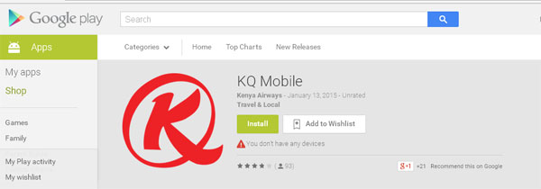 KQ Online Check In App