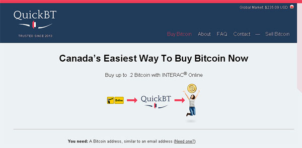 QuickBT Bitcoins In Canada