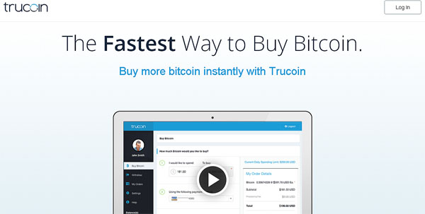 Trucoin Buy Bitcoins Instantly