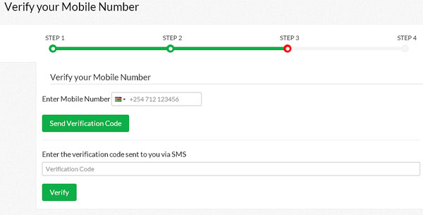 Verify eCitizen Mobile Number